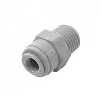 "Straight adaptor OD Tube - BSPT thread 5/16"" x 1/4"