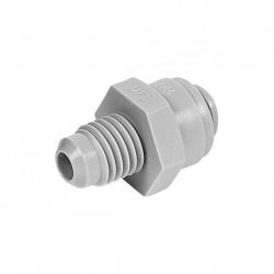 "Straight adaptor OD Tube - MFL thread 3/8"" x 1/2"""