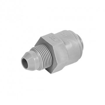 "Straight adaptor OD Tube - BSW thread british nipple 1/4"" x 9/16"
