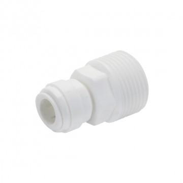 """Terminale diritto tubo Ø - filettatura cilindrica BSP(P) 1/4"""" x 3/4"""