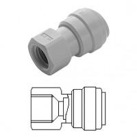 """Female adaptor OD Tube - UN thread (V Type) 3/8"""" x 1/2-16"""