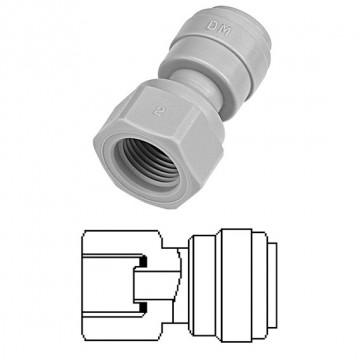 """Terminale diritto femmina Ø tubo - filetto UNF (Tipo a Cono) 1/4"""" x 7/16-20"""