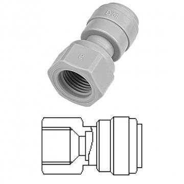 """Terminale diritto femmina Ø tubo - filetto UNF (Tipo V) 3/8"""" x 7/16-20"""
