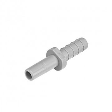 "Tube barb connector OD stem - ID tube 3/8"" x 1/4"""