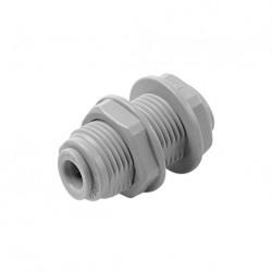 """Passaparete con ghiera in plastica Ø tubo (Misura Filetto M) 1/4"""" x 1/4 (M16XP1)"""
