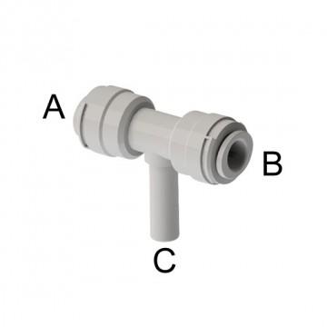 "Intermedio a T Ø tubo - Ø codolo (A)1/2"" x (B)1/2"" x (C)1/2"""