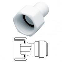 """Terminale diritto femmina Ø tubo - filetto BSP (Tipo a Cono) 3/8"""" x 3/8"""""""