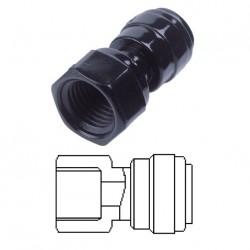 Terminale diritto femmina Ø tubo - filetto BSPT 6MM x 1/4