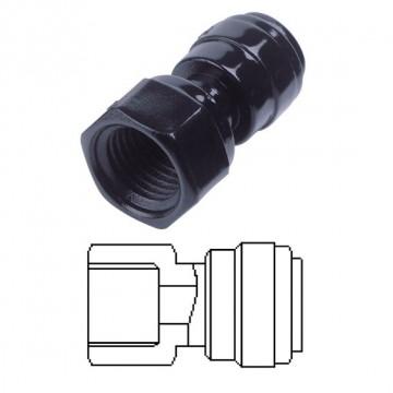 Terminale diritto femmina Ø tubo - filetto BSPT 16MM x 1/2