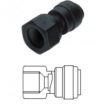 Terminale diritto femmina Ø tubo - filetto UNF (Tipo V) 10MM x 7/16-20