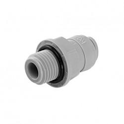 """Terminale diritto tubo Ø - filettatura cilindrica BSP(P) 1/4"""" x 1/4"""