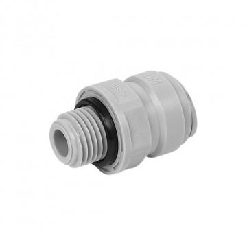 """Terminale diritto tubo Ø - filettatura cilindrica con big O-ring BSP(P) 3/8"""" X 1/4"""