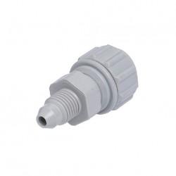 "Straight adaptor Power OD Tube - MFL thread 5/16"" x 3/8"