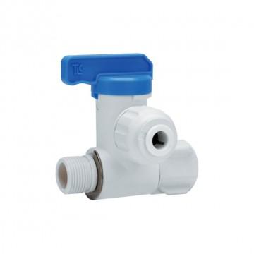 "Stop valve Adaptor OD Tube - M.xF. Thread BSPP 3/8"" - 3/8"" x 3/8"""