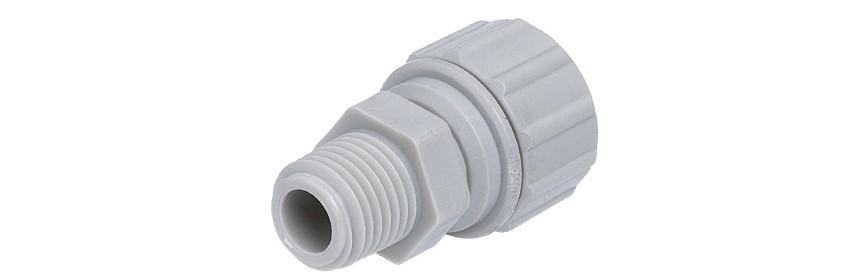 PMCBT/G Terminale diritto Ø tubo power - filetto BSPT misure in pollici