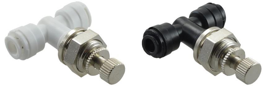 BCUC Regolatore flusso Intermedio con ghiera in plastica Ø tubo - Ø tubo