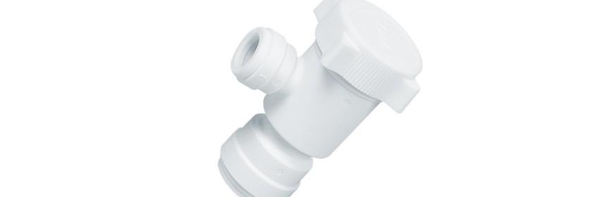 HVEU/W Valvola intermedia a gomito Ø tubo - Ø tubo
