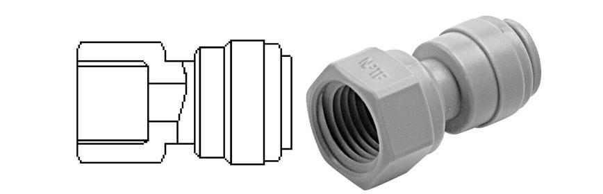 FA/G Terminale diritto femmina Ø tubo - filetto NPTF