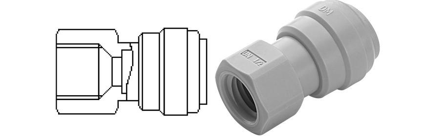 FAUN/G Terminale diritto femmina Ø tubo - filetto UN (Tipo V)