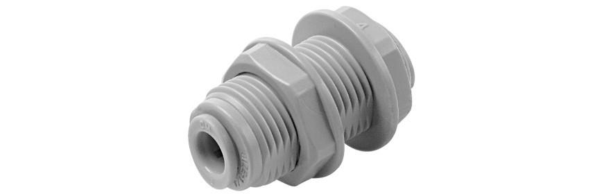 BU/G Passaparete con ghiera in plastica Ø tubo (Misura Filetto M)