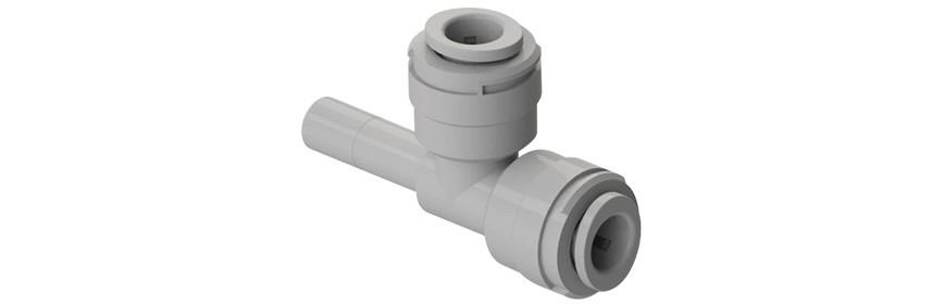 STU/G Tee con codolo laterale Ø tubo - Ø codolo