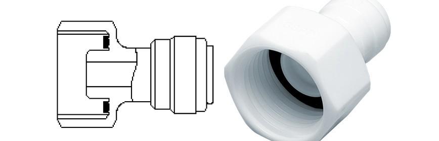 FAB/W Female adaptor OD Tube - BSP thread (Cone Type)